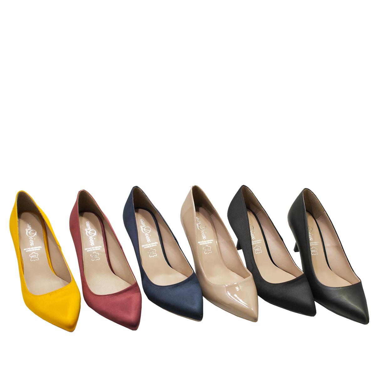 0f0d94b663d Zapato Salon Mastrill Medio tacon - Calzados Díez